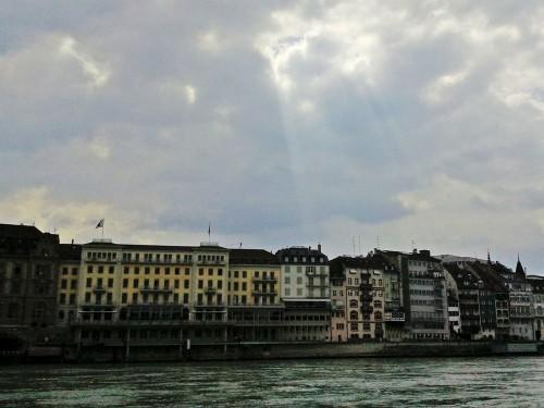 Häuser am Rhein