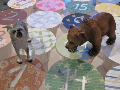 Adventskalender 2011 mit Wolf und Bär
